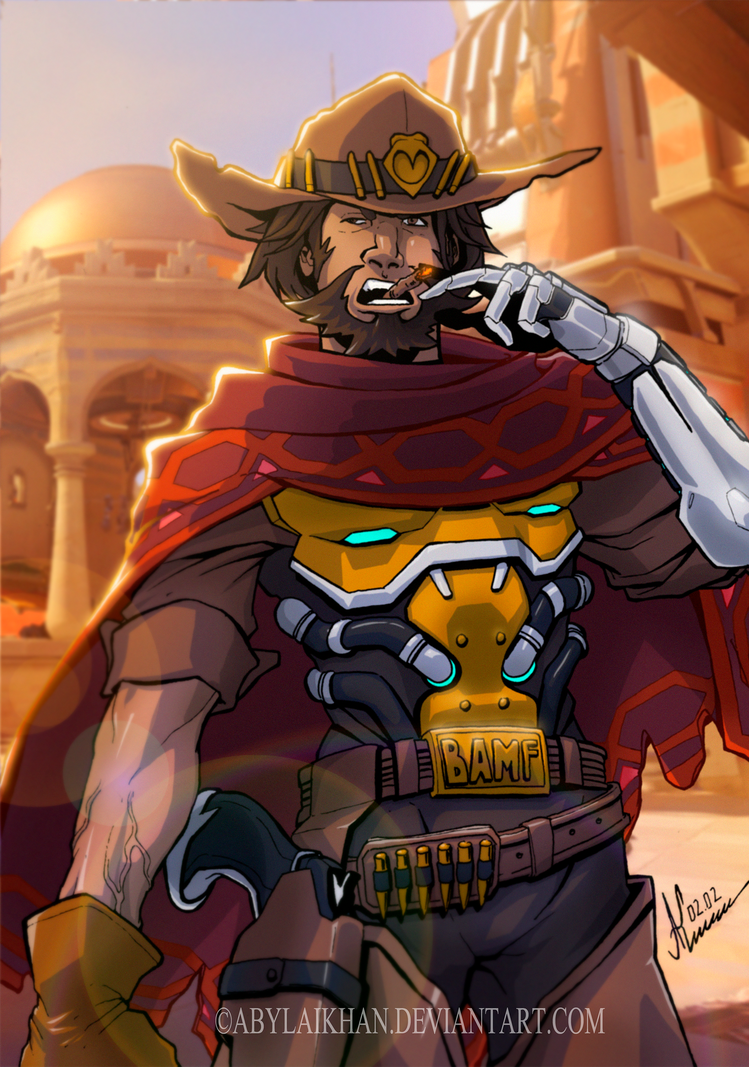 Mccree Overwatch Color By Abylaikhan On Deviantart Mccree Overwatch Overwatch Mccree