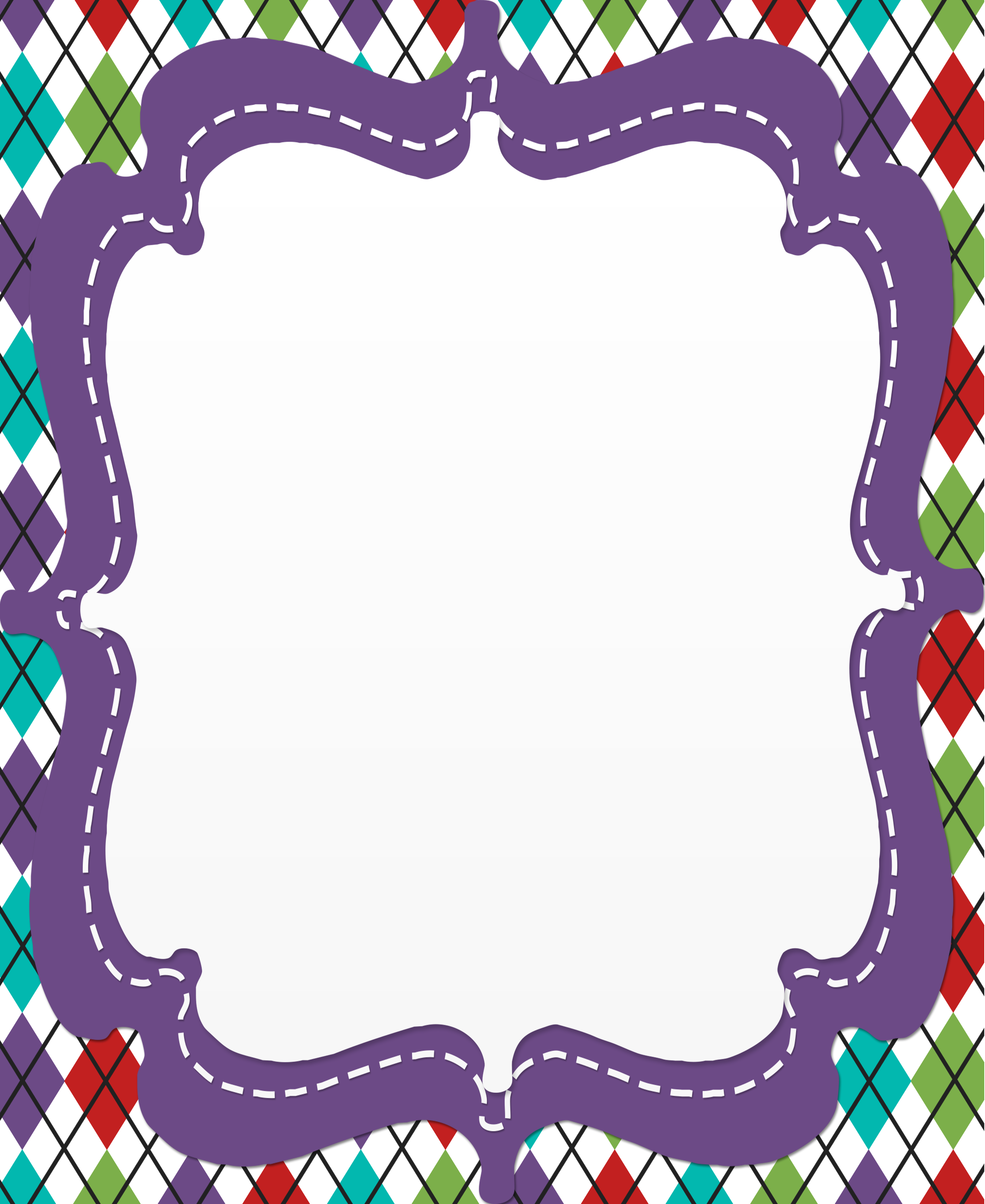 It is an image of Playful Free Printable Borders for Teachers