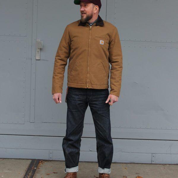 95bcc143a23 Carhartt Detroit jacket, Hamilton Brown | Black & Blue | raw dry ...