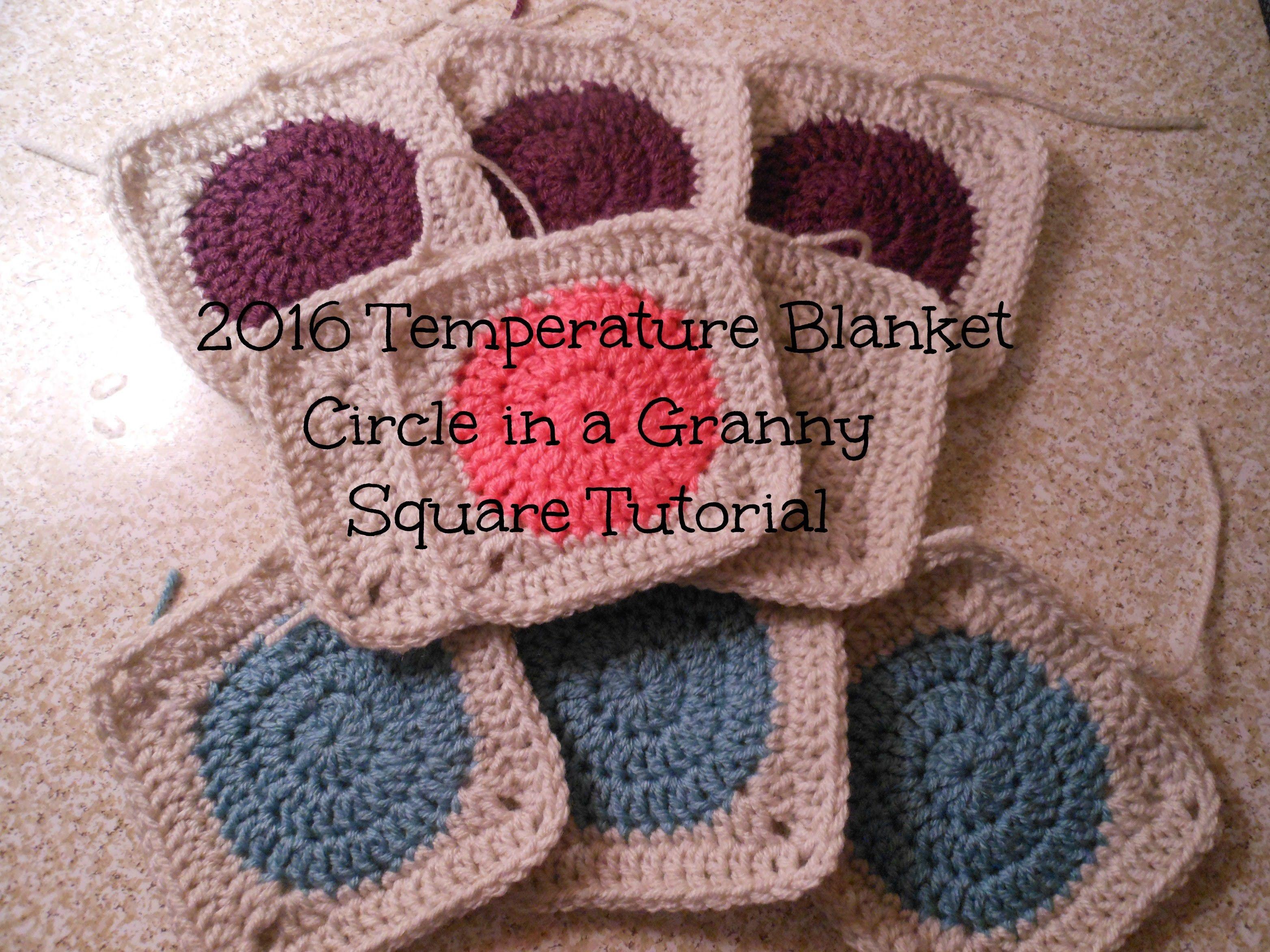 2016 Temperature Blanket Granny Square Tutorial | Allison Rae ...