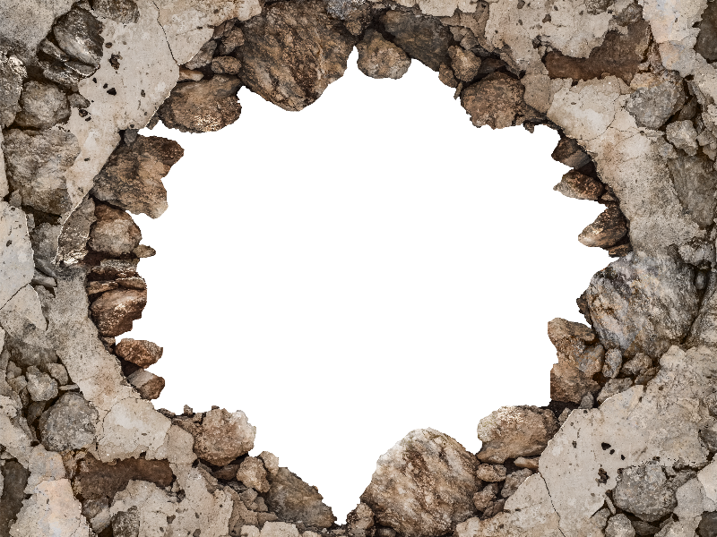 Cracked Broken Wall Png Background For Photoshop Photoshop