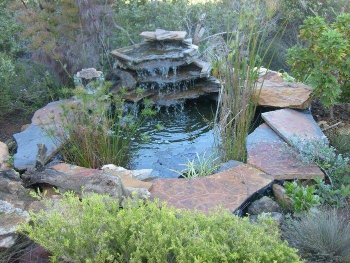 Wasserfall Im Garten Einen Kleinen Wasserfall Im Garten Selber