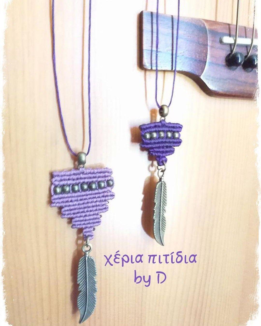 Lavender shades Macrame necklaces. #χέριαπιτίδια #heriapitidia #macrame #μακραμέ #macramenecklace #μακραμεκολιε #necklaces #κολιέ #giftideas #χειροποίηταδώρα #handmadegifts #gift #ιδέεςδώρων #δώρα #crete #greece #lavender #purple #μωβ #λεβάντα #마크라메 #마크라메팔찌목걸이 #목걸이 #καλοκαίρι #summer #summerjewelery #καλοκαιρινακοσμηματα #classicsummerjewelry #여름