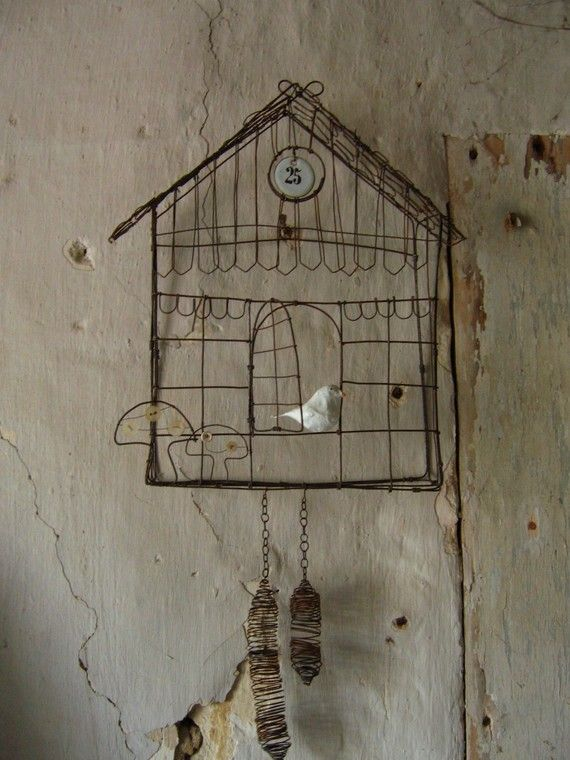 Cuckoo In Wire Original Model Made With Order Basteln Mit