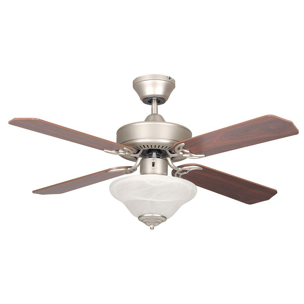 Radionic Hi Tech Nevaeh 42 in. Satin Nickel Ceiling Fan with Light Kit and 4 Blades