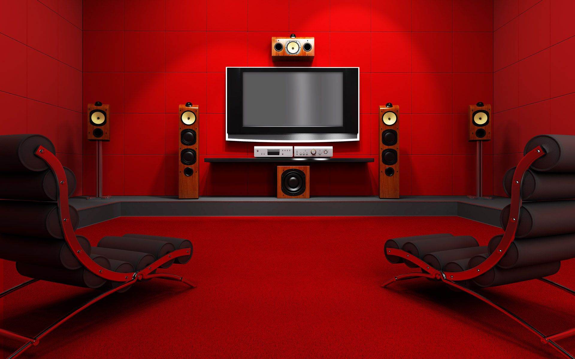 Red Decor For Living Room Living Room Interior Design Red Wallpaper 1920x1200px Hd