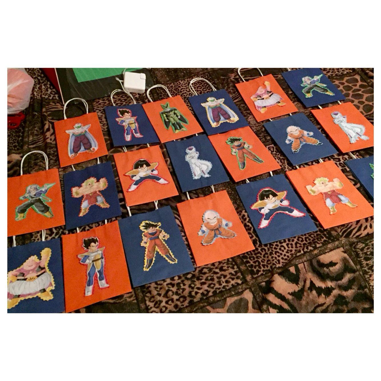 Dragon Ball Z Goodie Bags By Lyndsey Dragon Birthday Dragon Party Ball Birthday