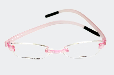 261b158399d3 flexible eyeglass frames for kids | Swiss Flex kids pink rimless glasses  for girls.