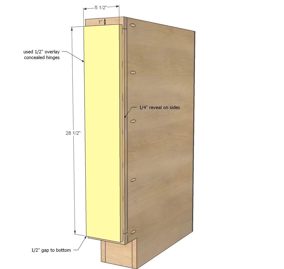 filler cabinet filler tray base cabinet momplex vanilla kitchen - Kitchen Base Cabinets