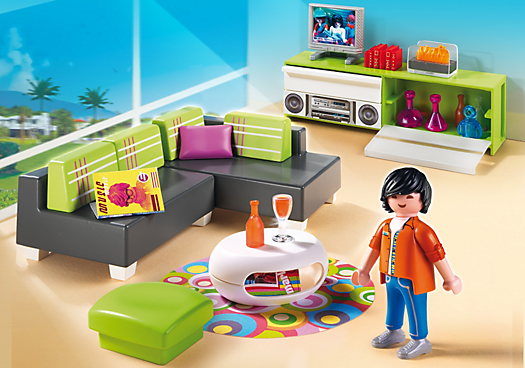 playmobil city life salon moderne playmobil. Black Bedroom Furniture Sets. Home Design Ideas