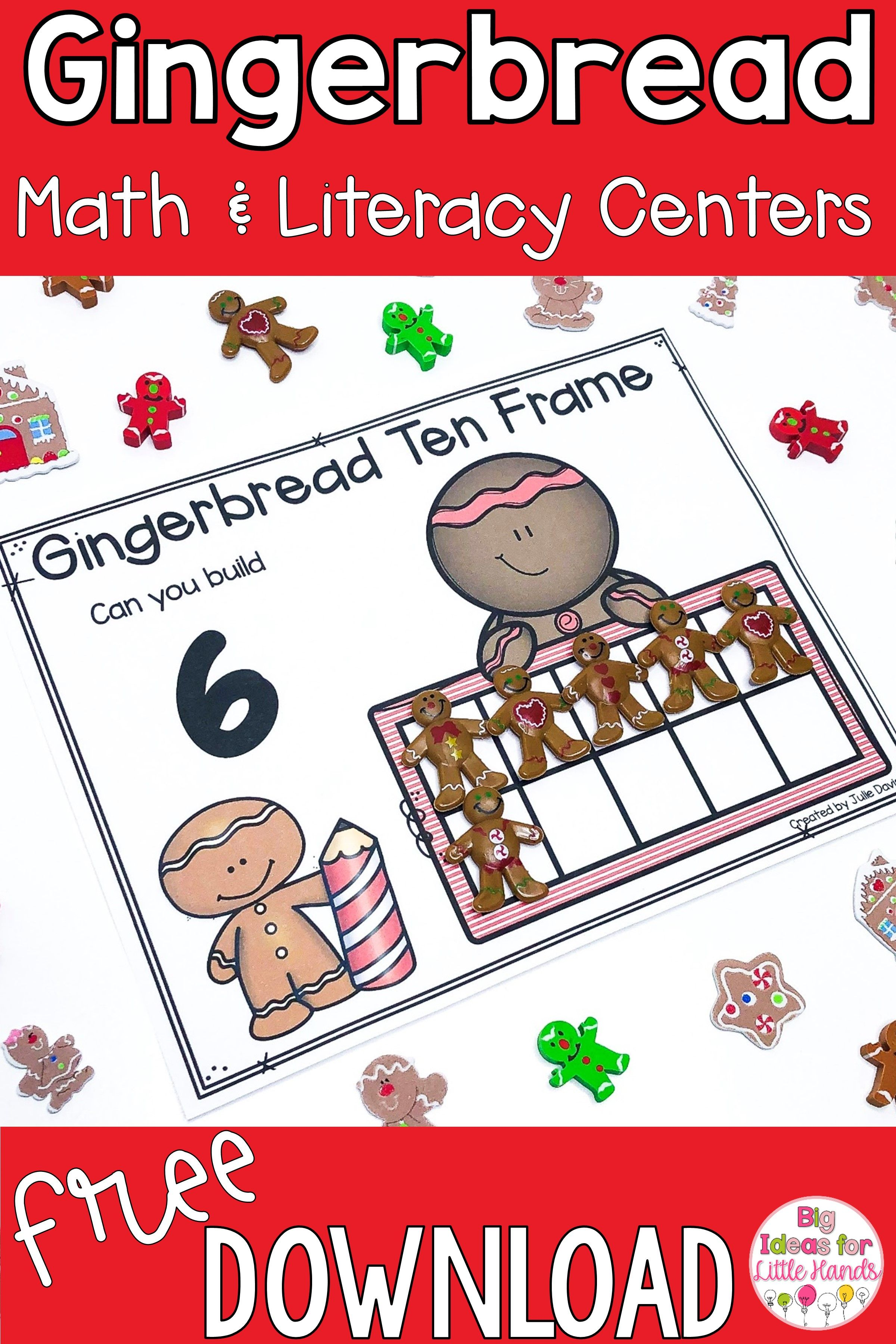Math And Literacy Gingerbread Freebies