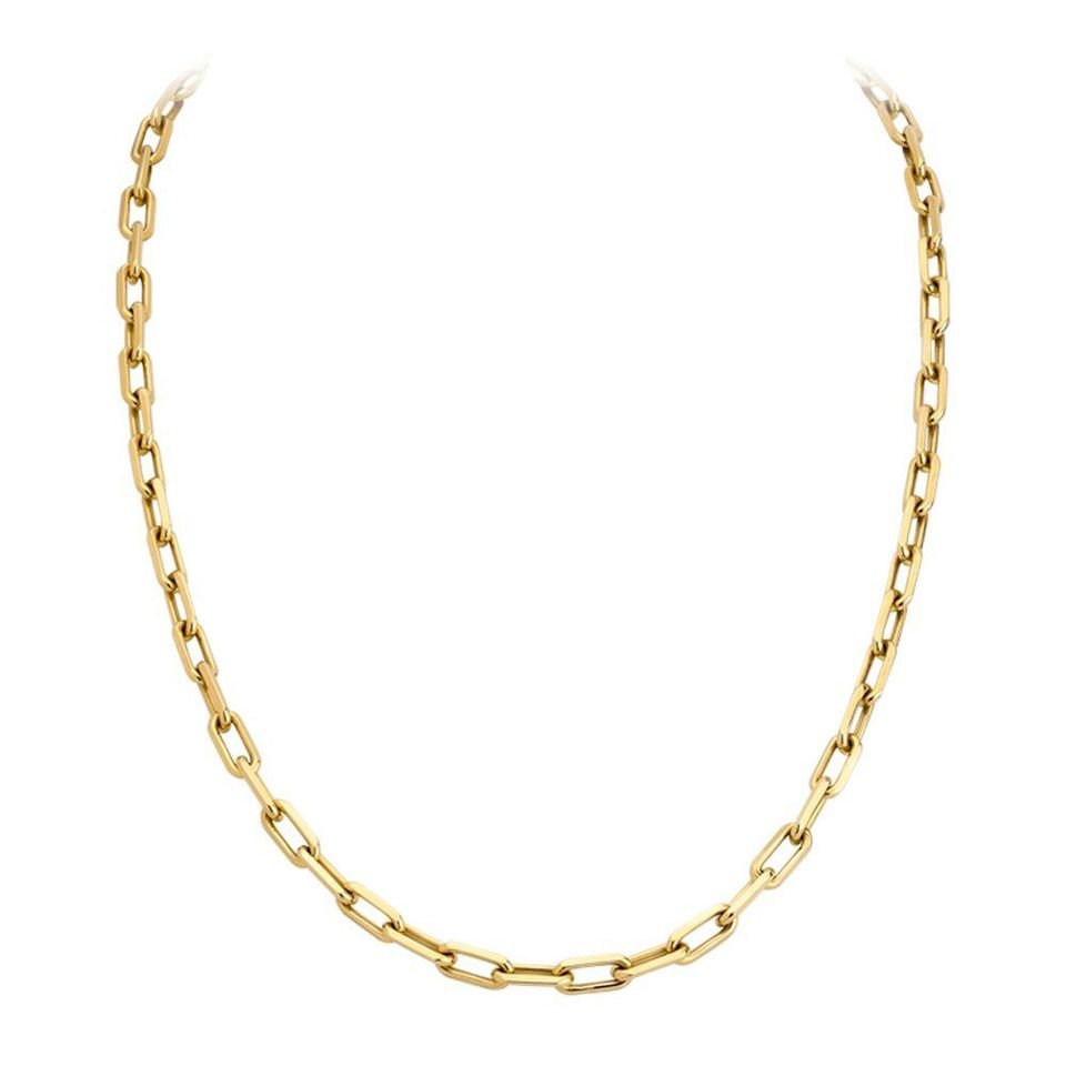 Cartier Spartacus Gold Link Chain 1stdibs Com Gold Chains For Men Vintage Chain Necklace Gold Link Chain