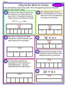 Division Bar Model Bar Model Singapore Math Model School Bar Model Singapore Math Word Problems