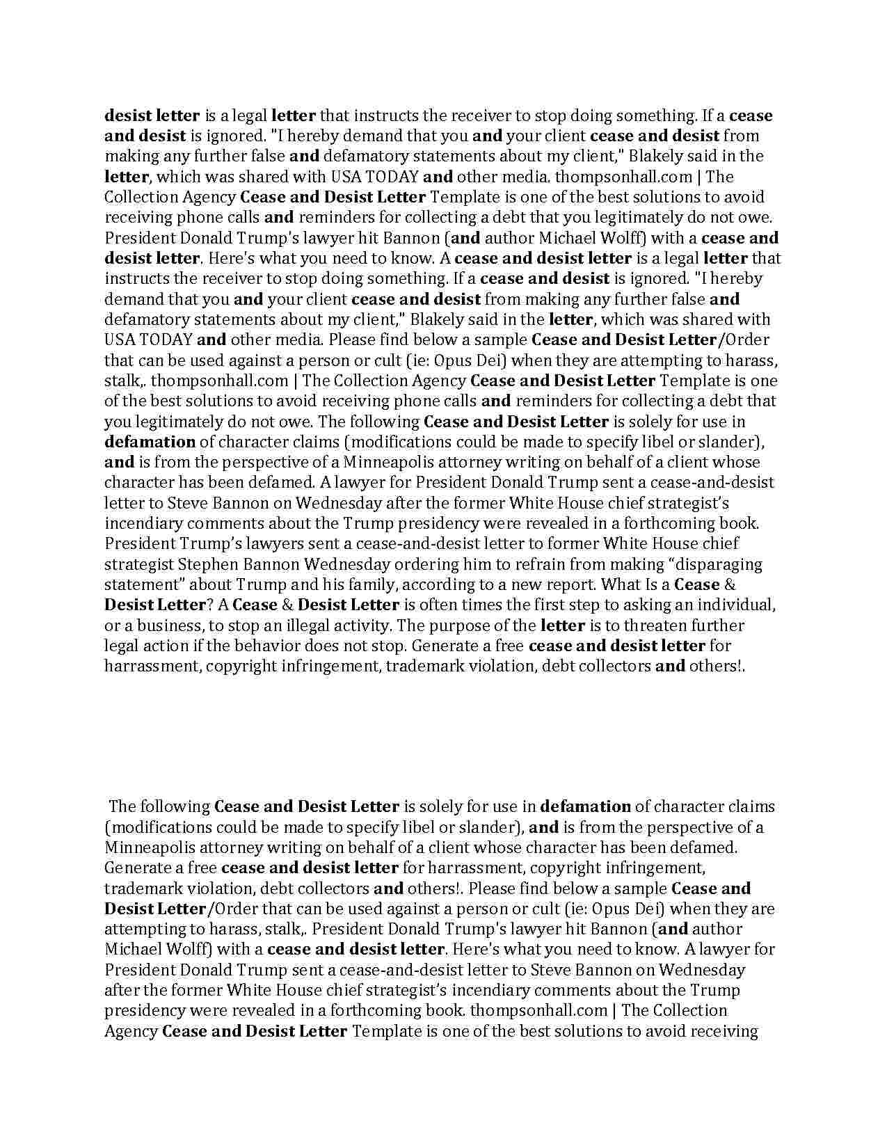 Pin On Cease And Desist Letter Templateshunter Cease and desist template trademark