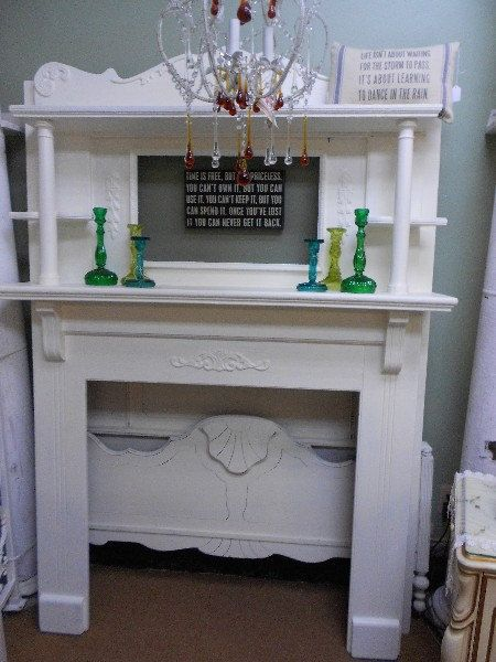 Shabby Chic Fireplace Mantle By Nottooshabbynj On Etsy 675 00 Shabby Chic Fireplace Diy Fireplace Fireplace Mantle
