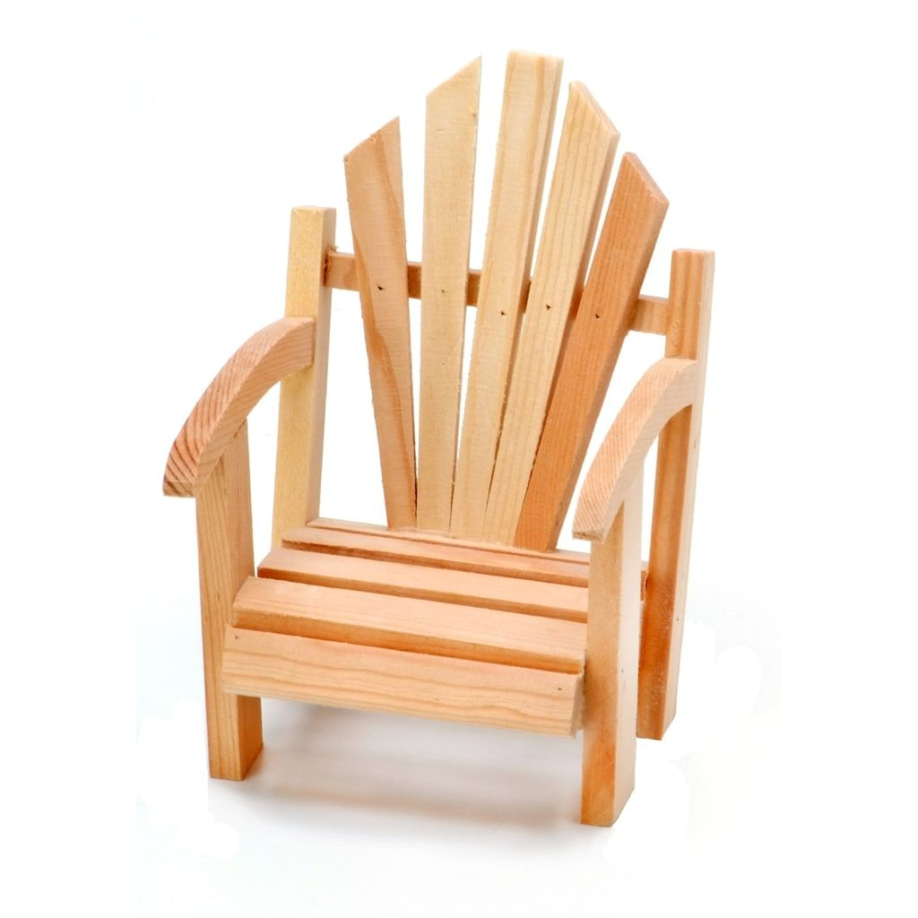 Unfinished Wood Miniature Adirondack Chair By Darice 6 Pack