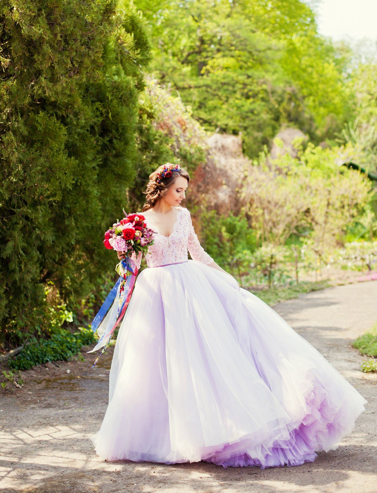 pretty purple wedding dresses for the nontraditional bride
