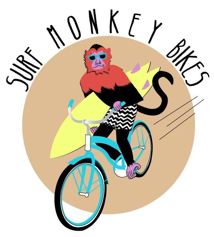 Surf Monkey Bikes T Shirt Design T Shirt Design Pinterest