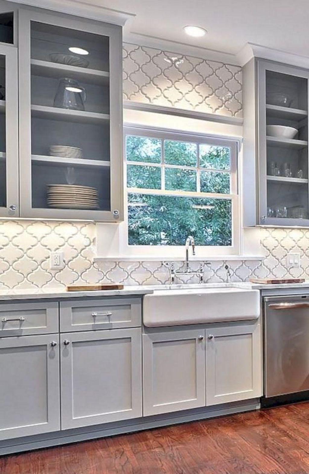 34 Best Glitter Kitchen Tiles Design Ideas You Will Love It Farmhouse Style Kitchen Kitchen Backsplash Designs New Kitchen Cabinets