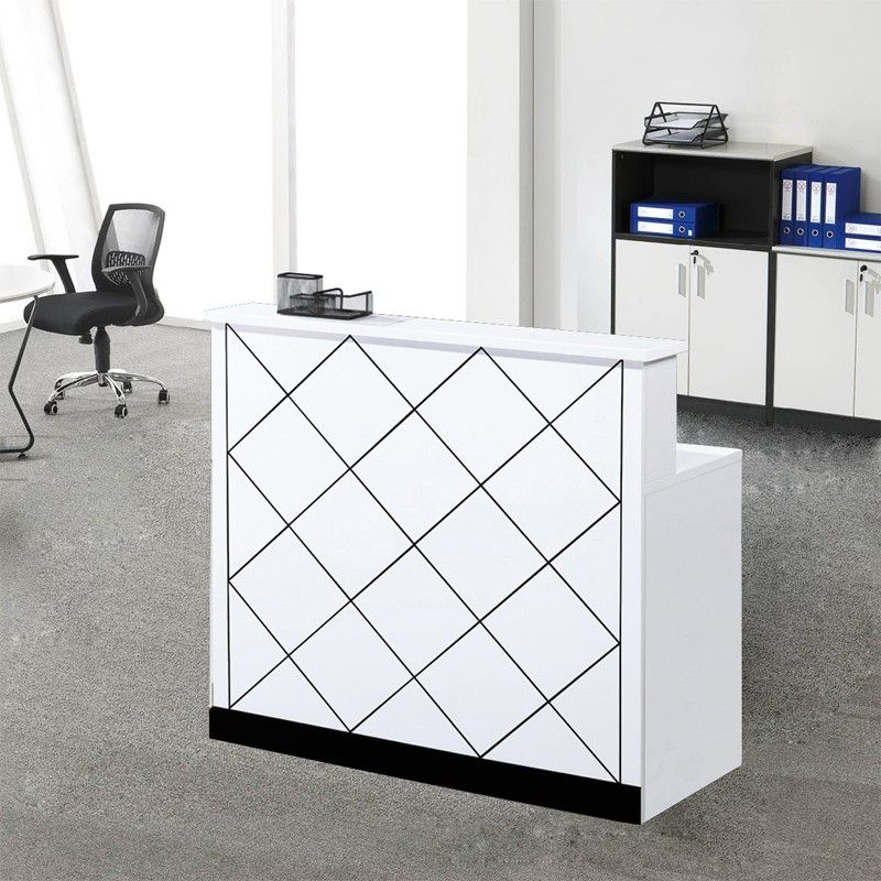 Modern White Custom Design Cheap Office Furniture Wooden Reception Counter  Table Reception Counter, Office Reception