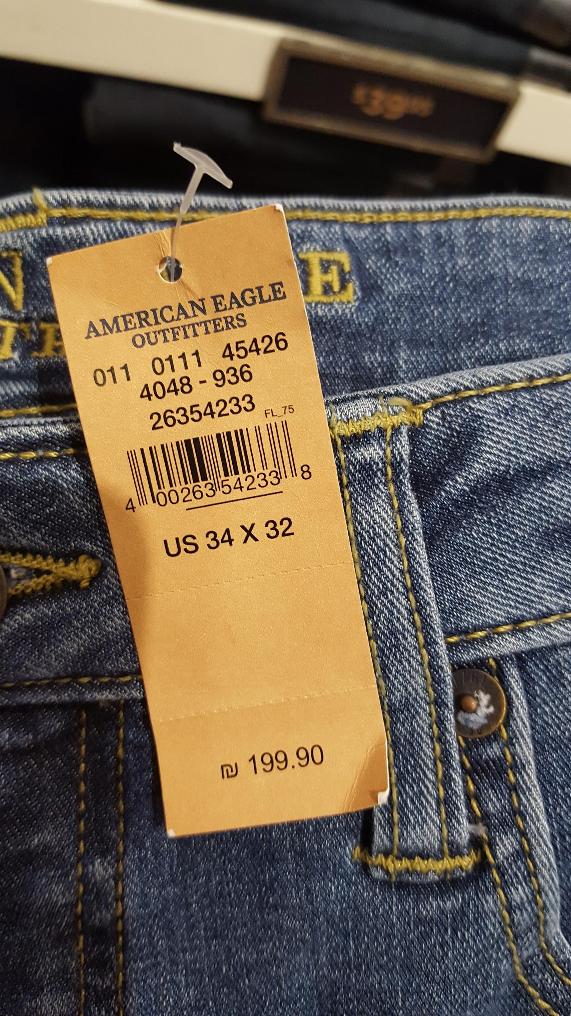 My American Eagle Jeans Had A Price Tag