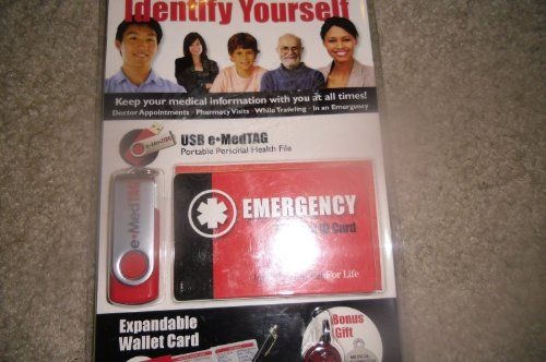 Save $ 10 order now Emergency Medical Id Card with 1gb USB and a Gift(identify Y