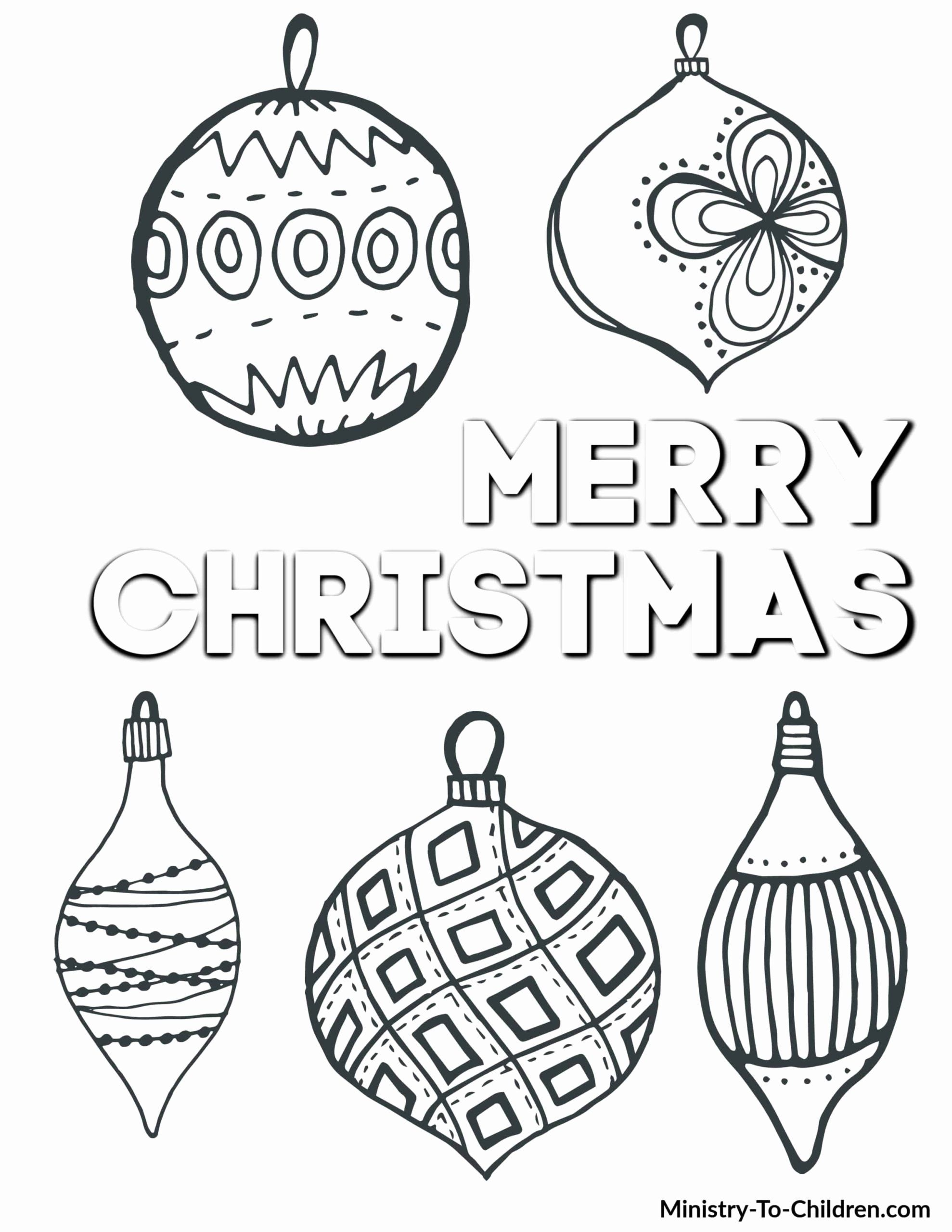 Christmas Ornaments Coloring Printables Best Of Coloring