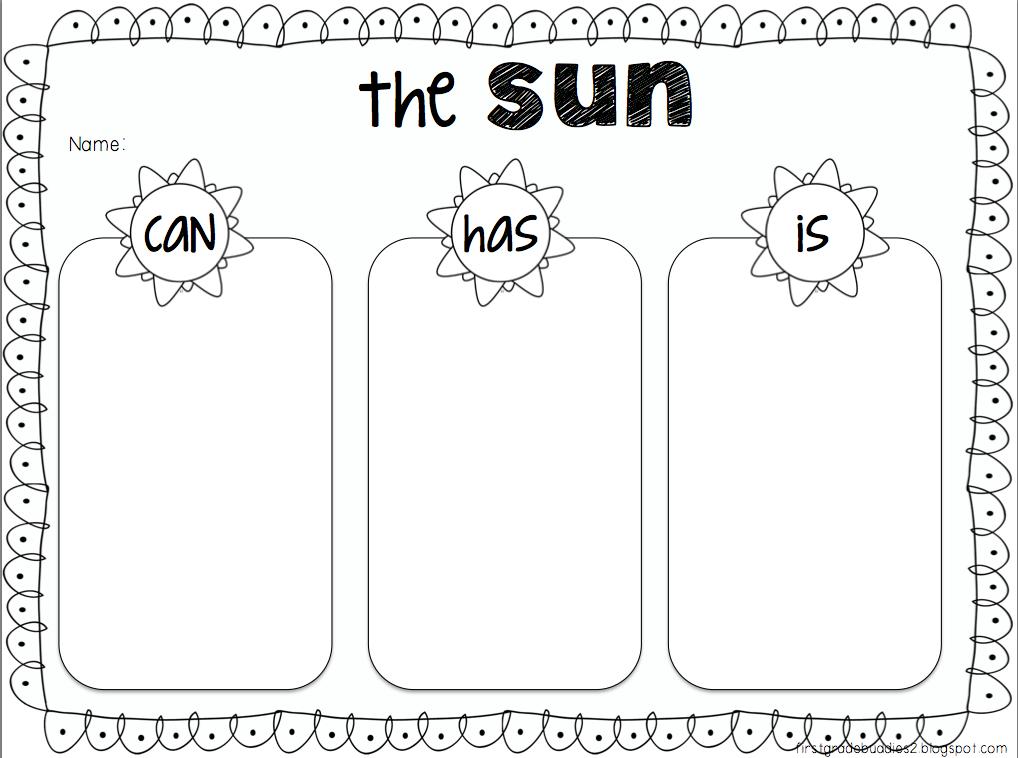 the sun fact organizer freebie great activity before summer break first grade friends. Black Bedroom Furniture Sets. Home Design Ideas