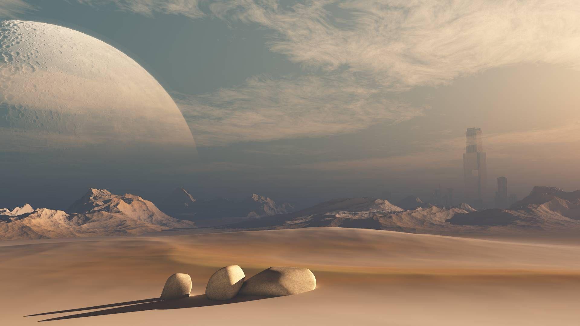 #mars #moon #space #desert #sciencefiction