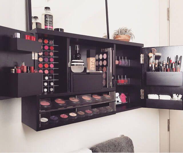Best Makeup Organizer 2018 Wall Mounted Makeup Organizer