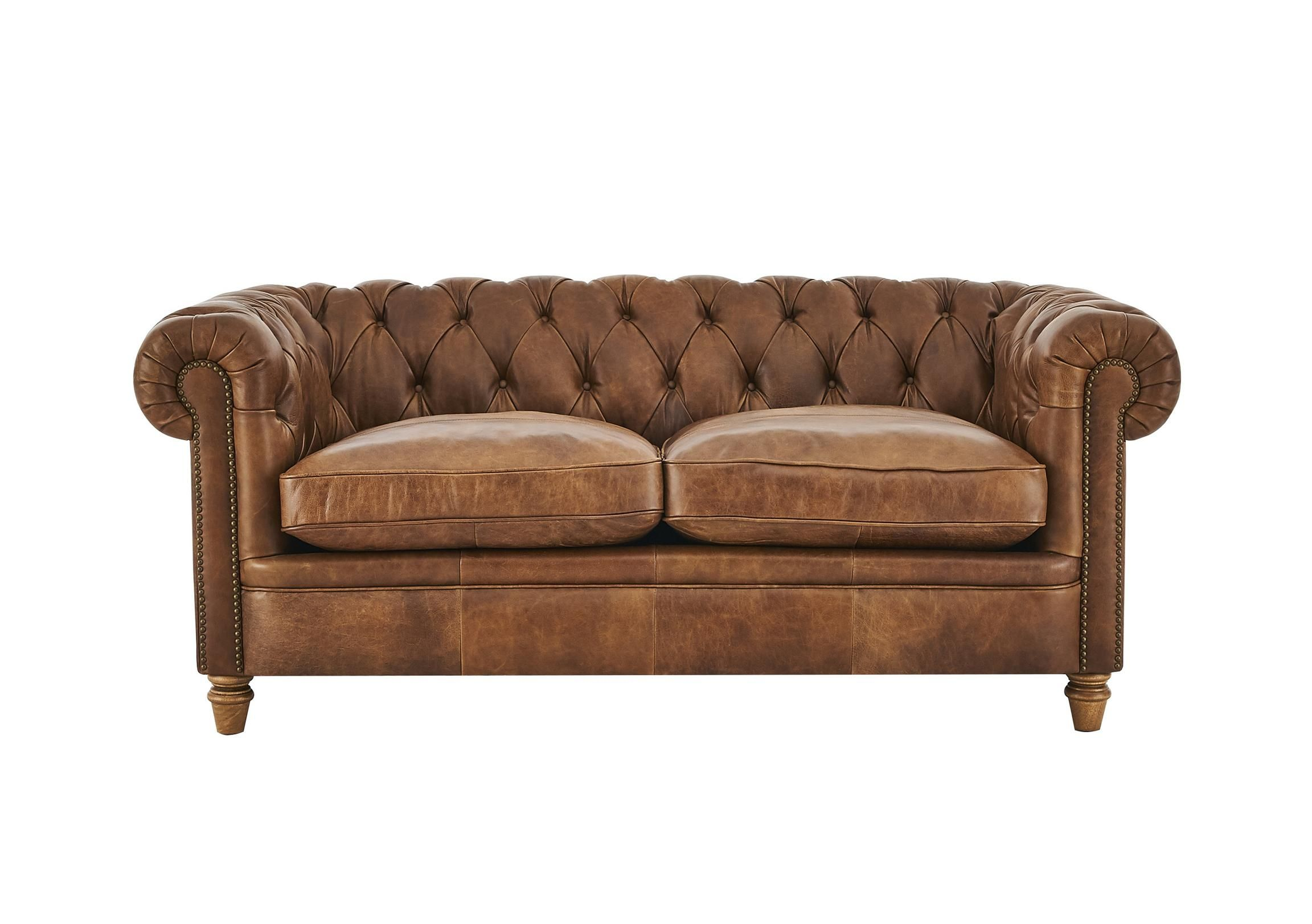 Discover The New England Newport 2 Seater Leather Sofa It Offers An Iconic Chesterfield Style