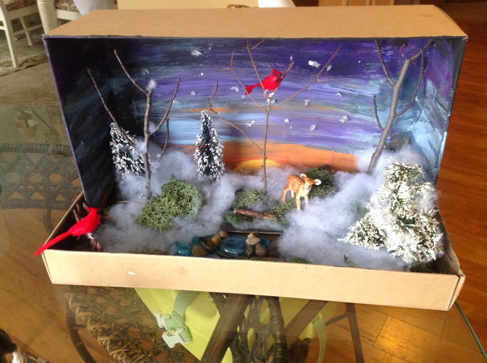 Christmas Shoebox Diorama.Wonderful Little Shoe Box Diorama Diorama Kids Shoe Box