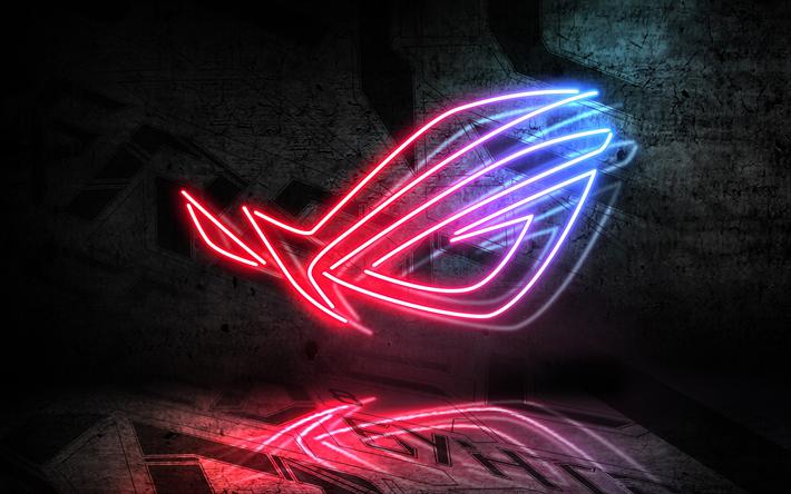 Download Wallpapers Republic Of Gamers 4k Logo Asus Art