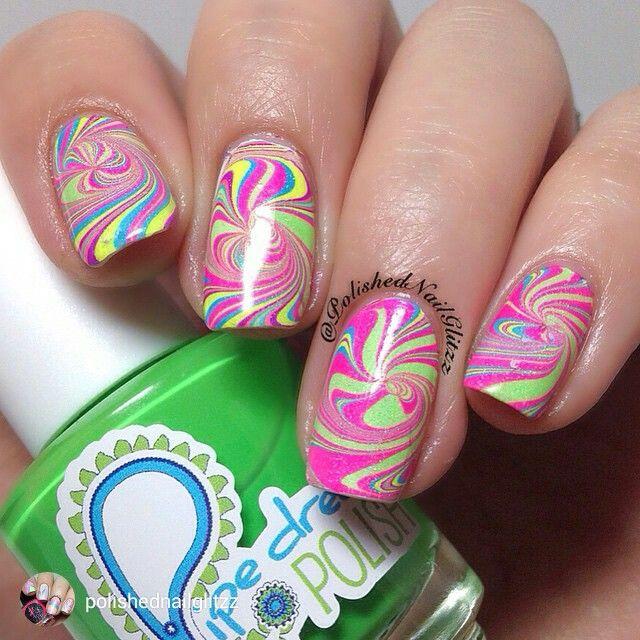 Pure Color #7 Watermarble Tool | Water marbling, Nail nail and ...