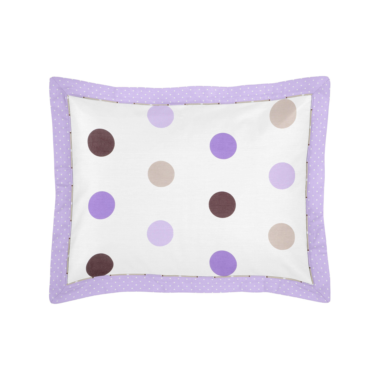 Sweet Jojo Designs Purple and Chocolate Mod Dots Collection Standard Pillow Sham