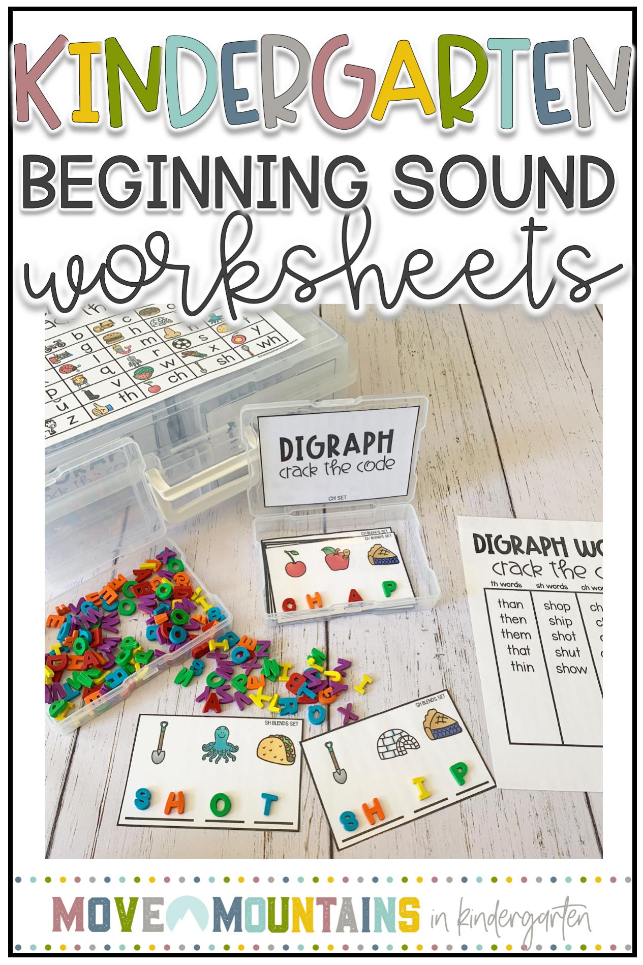 Beginning Sounds Worksheets For Kindergarten Move Mountains In Ki Beginning Sounds Worksheets Kindergarten Phonics Activities Kindergarten Reading Activities [ 1898 x 1265 Pixel ]