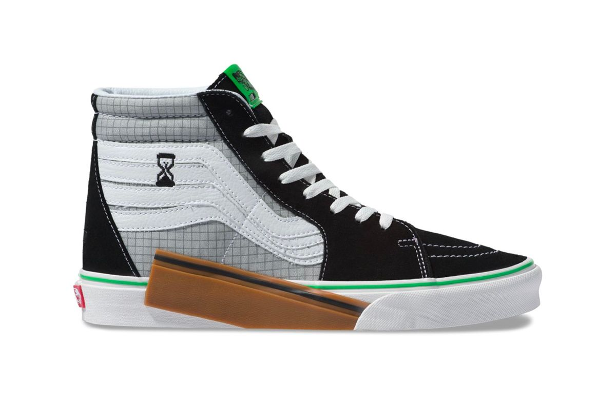 c685dc3ad89f77 Vans VANSCII Sk8-Hi Release Info Date black grey green grid Blanc De Blanc