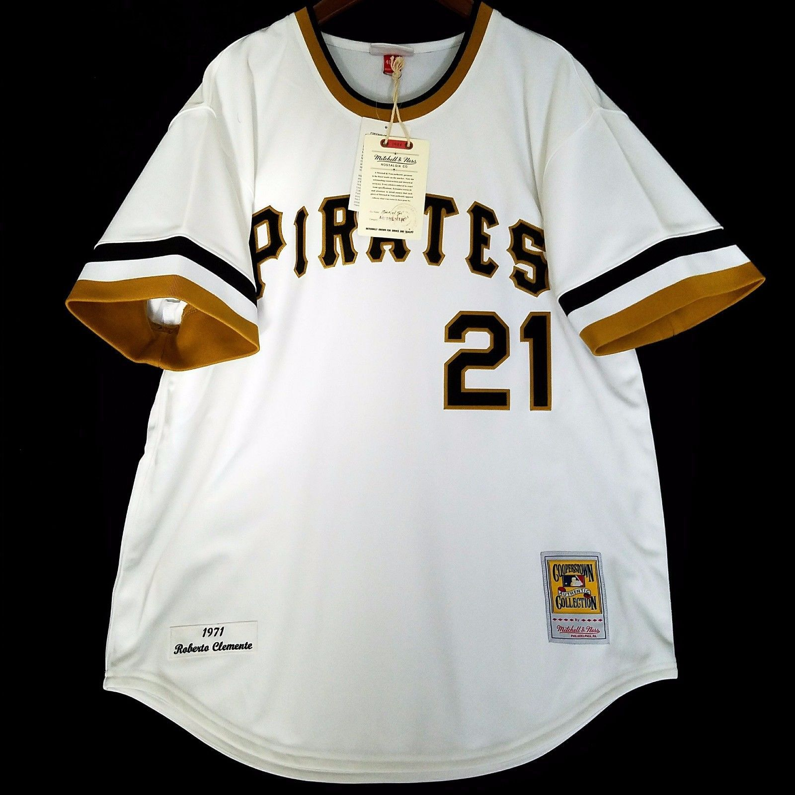 new styles 676c5 32a8e 100% Authentic Roberto Clemente 71 Pirates Mitchell Ness MLB ...
