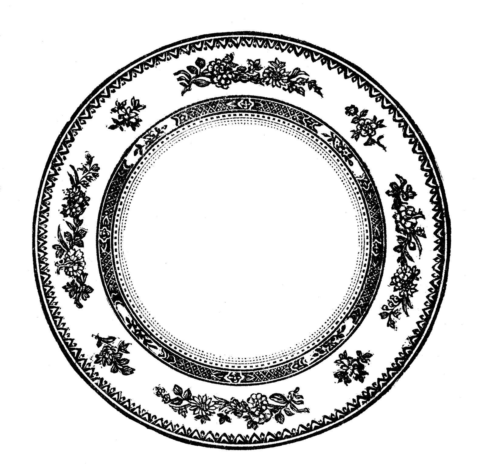 Vintage Plates Clip Art