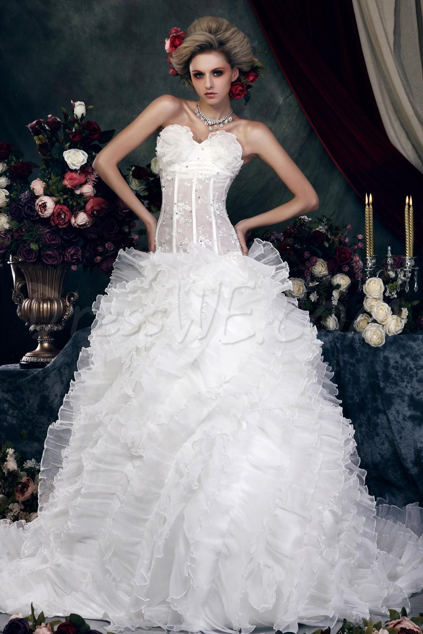 Brilliant Ball Gown Sweetheart Cathedral Tiered Dasha's