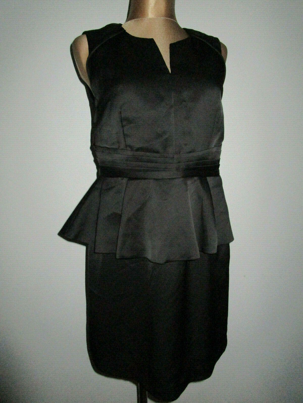 WE wunderschönes elegantes schwarzes Kleid mit Schösschen Satina
