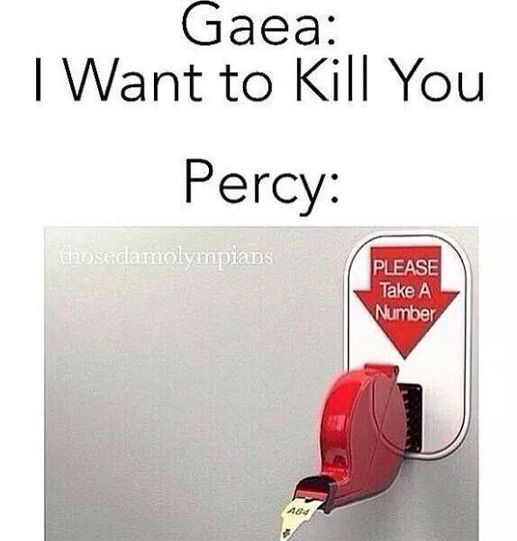 Please Take a Number   Percy Jackson/Heroes of Olympus in