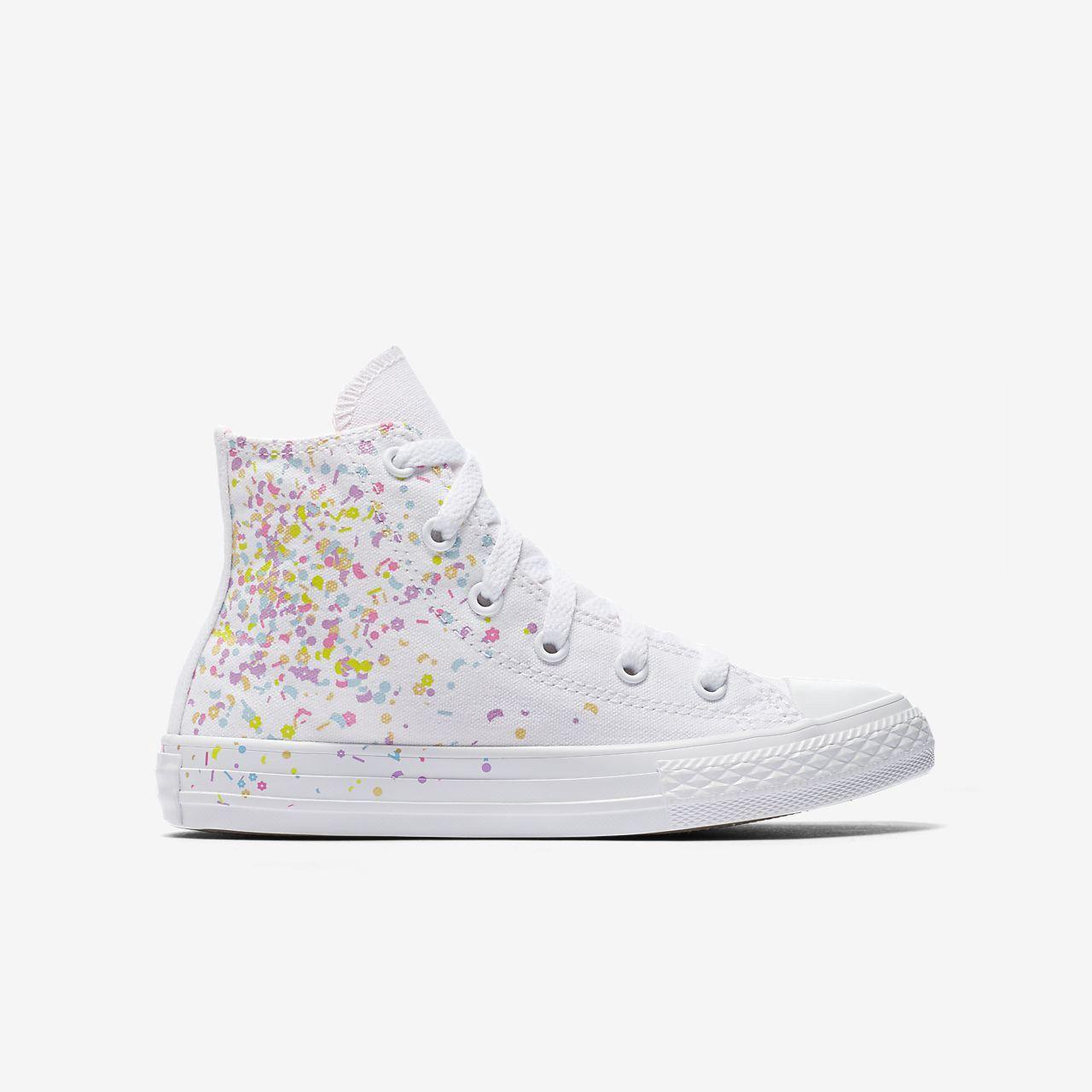 Converse Chuck Taylor All Star Birthday Confetti High Top Girls  Shoe - 5Y fdcf217b7