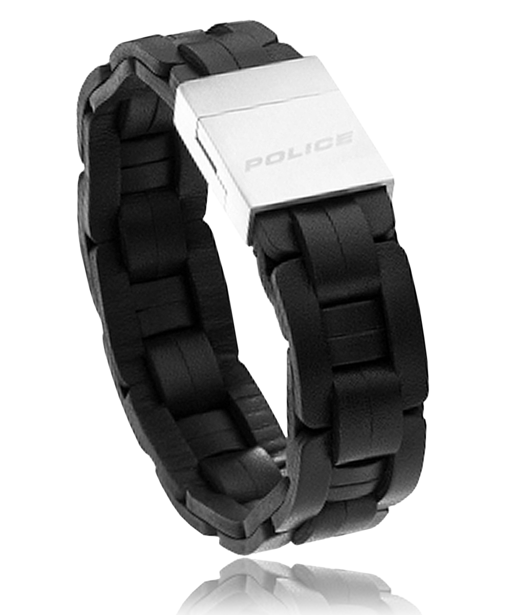 bracelet cuir homme police