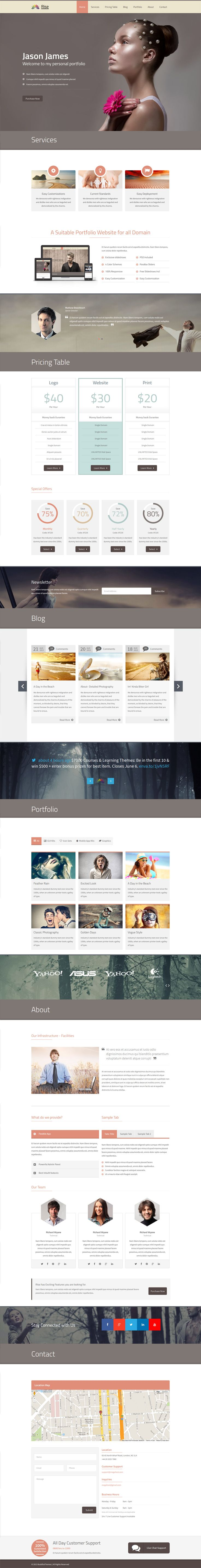 Rise Onepage Responsive Parallax Html