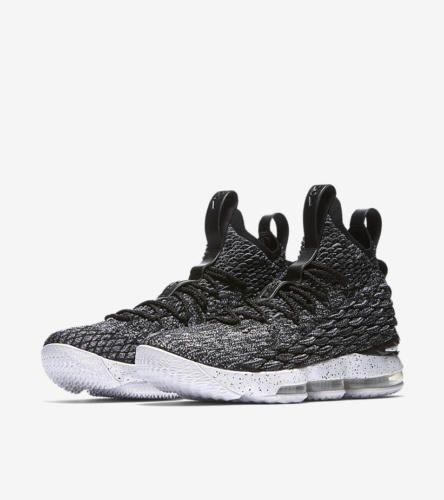eb5b4d2b32f  209.88  Nike  Lebron-15-XV-034-Ashes-034-897648-002-Black-White-Oreo-GS-MEN -Size-4Y-15
