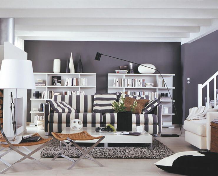 Design : Wohnzimmer Grau Landhaus ~ Inspirierende Bilder Von ... Grau Weies Wohnzimmer