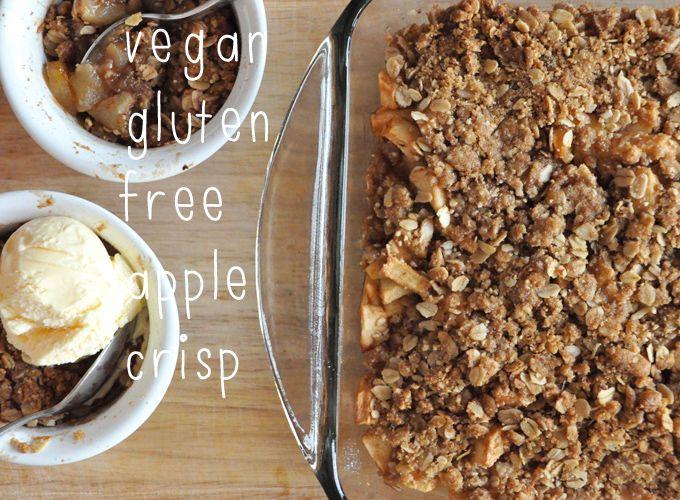 Vegan Gluten Free Apple Crisp Recipe Minimalist Baker Recipes Recipe Gluten Free Desserts Thanksgiving Vegan Apple Crisp Gluten Free Apple Crisp