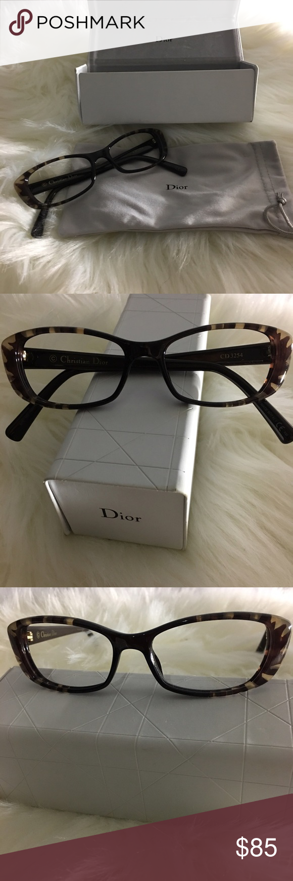 b247c561963 Christian Dior prescription frames glasses Christian Dior CD3254 color brown  flower is designed for women.