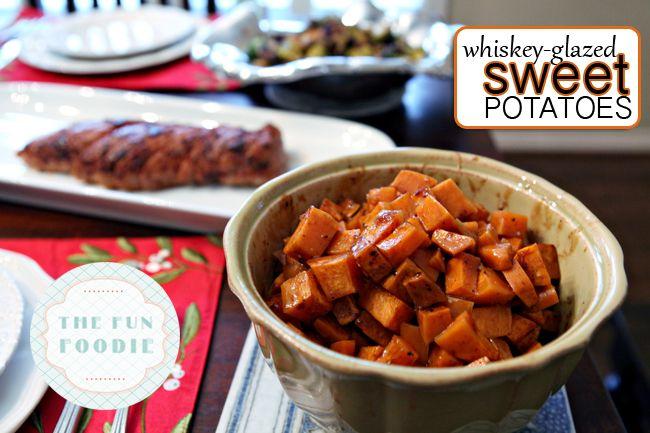 Whiskey-Glazed Sweet Potatoes for a Christmas Dinner Potluck // The Perch, a Polka Dot Peacock blog